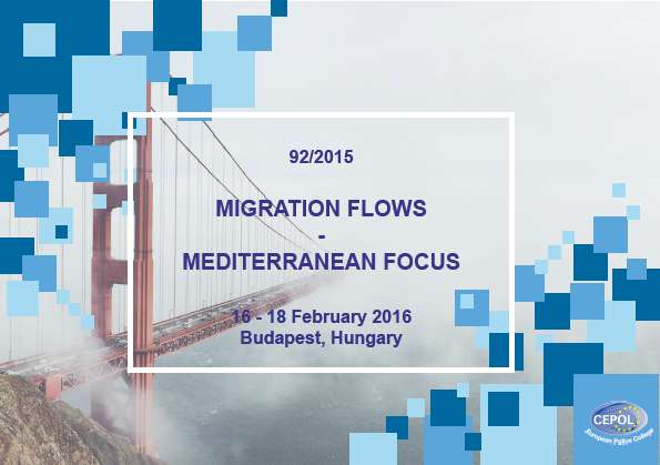 92/2015 Migration flows – Mediterranean focus