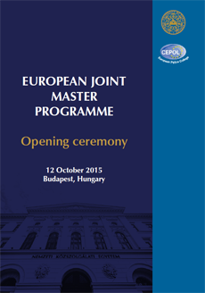 Master Programme - Opening ceremony