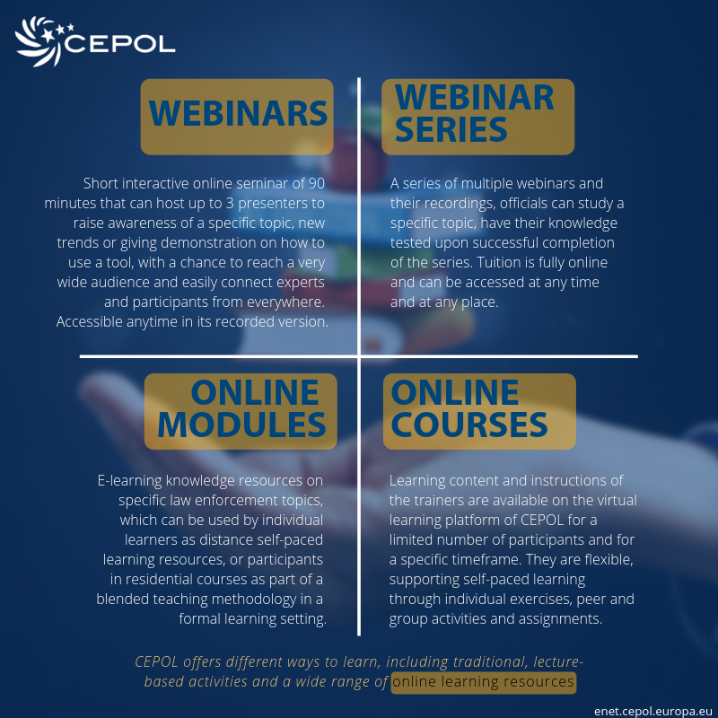 Types of learning - Online learning | CEPOL
