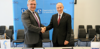 CEPOL and OSCE Secretariat sign agreement on mutual co-operation, Detlef Schröder Guy Vinet