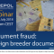 Webinar 61/2018 Document fraud: Foreign breeder documents