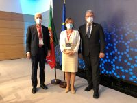 CEPOL  ED with Europol ED De Bolle and INTERPOL Secretary General Stock
