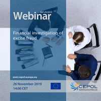 Webinar 23/2019 - 'Financial investigation of excise fraud'