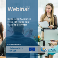 CEPOL Webinar AdHoc 11/2019 'Integrated Guidance Note for residential training activities'