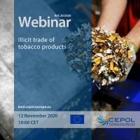 Webinar 20/2020: Illicit trade of tobacco products