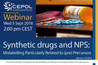 Webinar 18/2018 Synthetic Drugs and New Psychoactive Substances - Mislabelling Particularly Related to (pre) Precursors