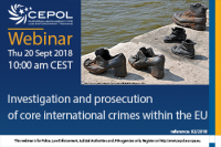 Webinar 92/2018 'Investigation and prosecution of core international crimes within the EU'