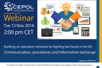 Webinar 80/2018 Building co-operation networks for fighting tax frauds in the EU: Communication, procedures and information exchange