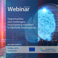 Webinar 9/2019 'Opportunities and challenges: investigating monikers in Darkweb marketplaces'