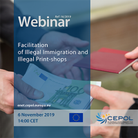 CEPOL Webinar: Facilitation of Illegal Immigration and Illegal Print-shops