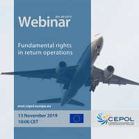 Webinar 40/2019 'Fundamental rights in return operations'