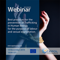 Webinar 20/2019 - Best practices for the prevention of  Trafficking in Human Beings for the purpose of labour and sexual exploitation