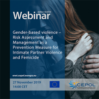 AdHoc Webinar 9/2019 - 'Gender-based violence – Risk Assessment and Management as a Prevention Measure for Intimate Partner Violence and Femicide'
