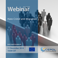 Webinar 38/2019 - 'Hate Crime and Migration'