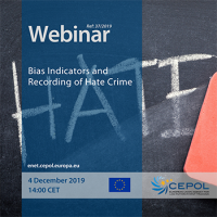 Webinar 37/2019 - 'Bias Indicators and Recording of Hate Crime'