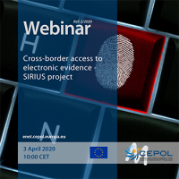 Webinar 02/2020: Cross-border access to electronic evidence - SIRIUS project