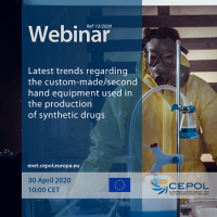 Webinar 12/2020: Latest trends regarding the custom-made/second hand equipment used in the production of synthetic drugs