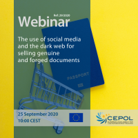 CEPOL Webinar 29/2020: The use of social media and the dark web for selling genuine and forged documents