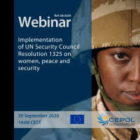 Webinar 58/2020: Implementation of UN Security Council Resolution 1325 on women, peace and security