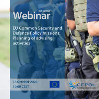 Webinar 59/2020: EU Common Security and Defence Policy missions: Planning of advising activities