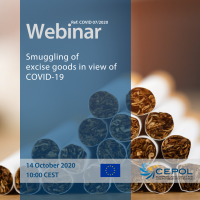 CEPOL COVID-19 Webinar (No7): Smuggling of excise goods in view of COVID-19