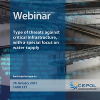 Webinar AdHoc 37/2020: Type of threats against critical infrastructure, with a special focus on water supply