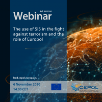 Webinar 36/2020: The use of SIS in the fight against terrorism and the role of Europol