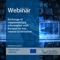 Webinar 42/2021: Exchange of supplementary information with Europol on hits related to terrorism