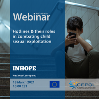 Webinar 05/2021: Hotlines & their roles in combating child sexual exploitation