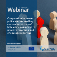 Webinar 67/2020: Cooperation between police and counselling centres for victims of hate crimes as means to improve recording and encourage reporting