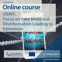 Online Course 88/2021: OSINT - Focus on fake news and disinformation leading to extremism