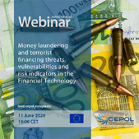 CEPOL Webinar AdHoc 18/2020: Money laundering and terrorist financing threats, vulnerabilities and risk indicators in the Financial Technology field