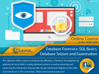 Online course 03/2018:Database Forensics: SQL Basics, Database Seizure and Examination (Basic Course)