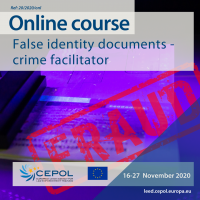 Online Course 20/2020: False identity documents – crime facilitator