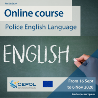 CEPOL Online Course 03/2020: Police English Course