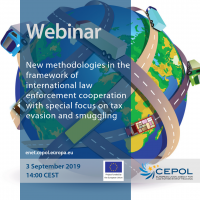 CEPOL Webinar: New methodologies in the framework of international law enforcement cooperation with special focus on tax evasion and smuggling