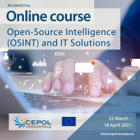 Online Course 28/2021: Open-Source Intelligence (OSINT) and IT Solutions