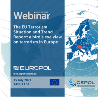 Webinar 50/2021: The EU Terrorism Situation and Trend Report: a bird's eye view on terrorism in Europe