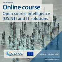Online Course 30/2020: Open-Source Intelligence (OSINT) and IT solutions